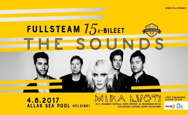 Fullsteam 15v-bileet: The Sounds (SWE) liput