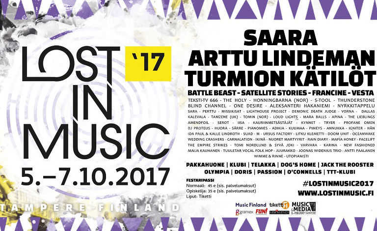 Lost in Music Festival 2017 Liput