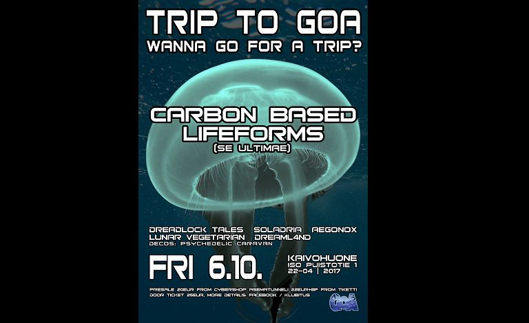 Trip To Goa presents: Carbon Based Lifeforms Live liput