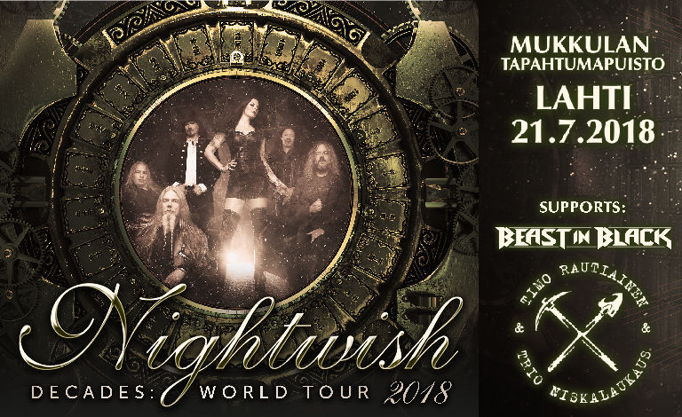 Nightwish - Decades: World Tour 2018, Beast In Black, Timo Rautiainen & Trio Niskalaukaus Liput