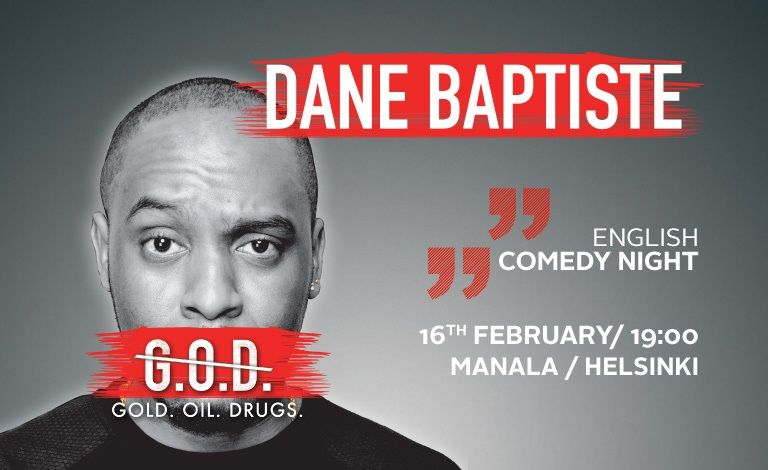 Comedy Finland: English Comedy Night ft Dane Baptiste (UK) Liput