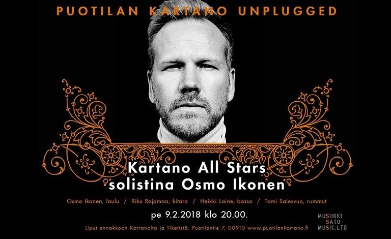 Unplugged Kartano All Stars: Osmo Ikonen Liput