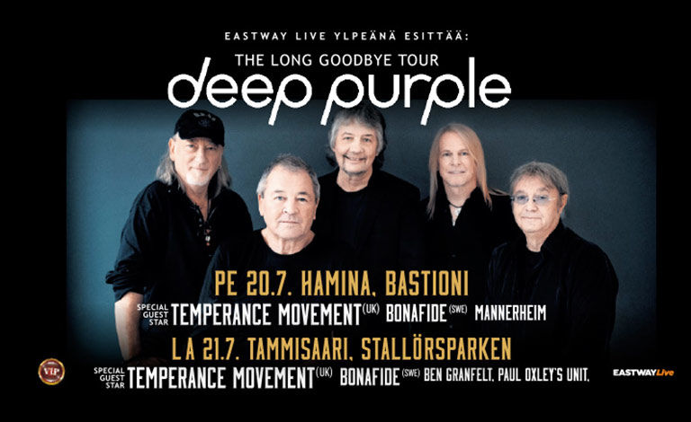 Deep Purple - The Long Goodbye + supports Liput