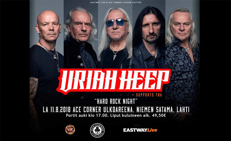 Hard Rock Night: Uriah Heep + Supports Liput