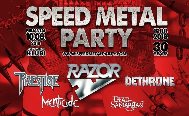 Speed Metal Party: Razor (CAN), Prestige, Dethrone, Menticide, Dead Samaritan Tickets
