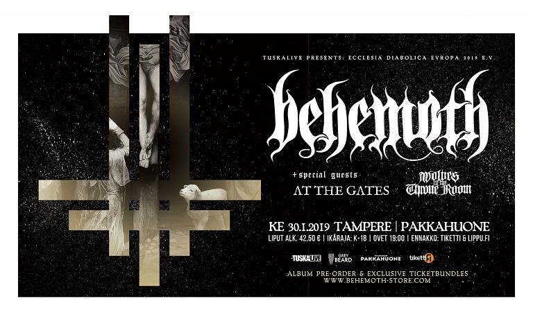Behemoth (PL), At The Gates (SWE), Wolves In The Throne Room (USA) Liput