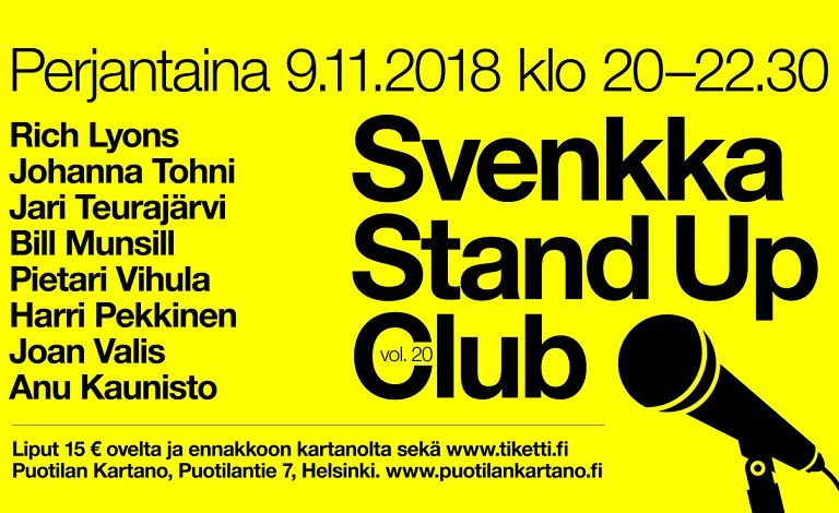 Svenkka Stand up Club vol. 20 Tickets