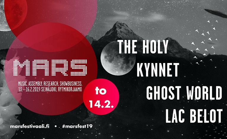 Live on MARS 2019: The Holy, Kynnet, Ghost World, Lac Belot Liput