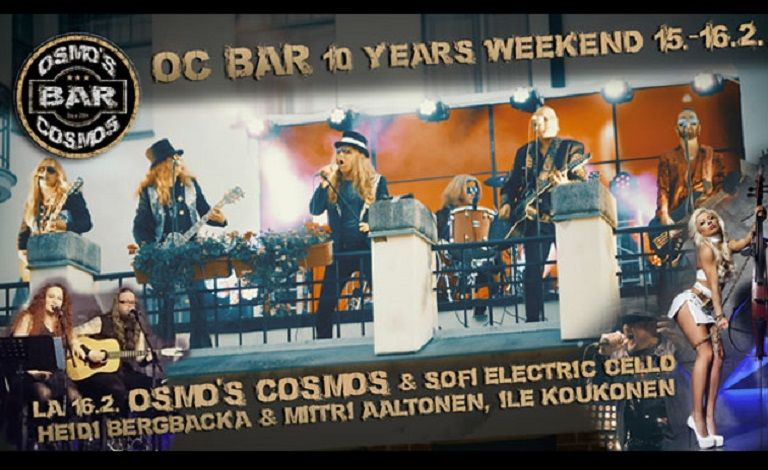 OC Bar 10 Years - Sofi Electric Cello (RUS), Osmo's Cosmos & special guests Liput