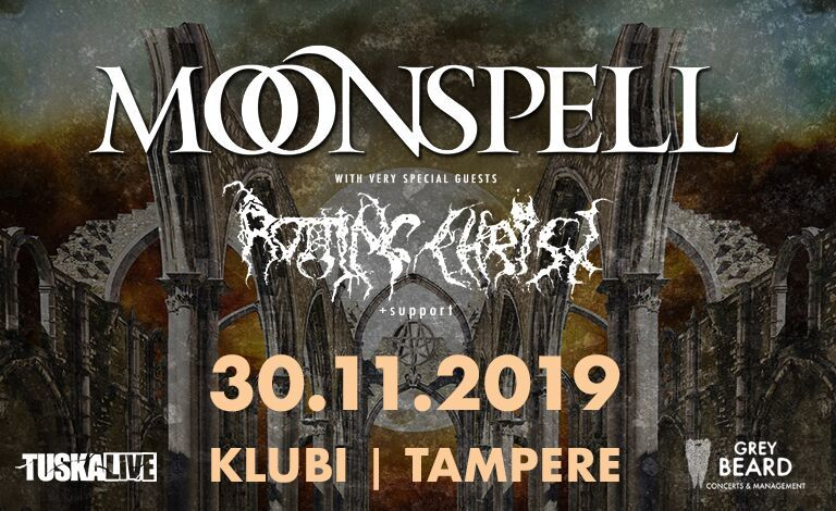 Moonspell (POR), Rotting Christ (GRC), Silver Dust (SUI) Tickets