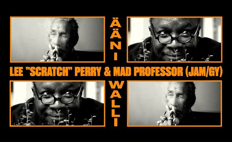 "Lee ""Scratch"" Perry & Mad Professor (JAM/GY), Healing of the Nation & Dreadlock Tales Dub Sound Liput"