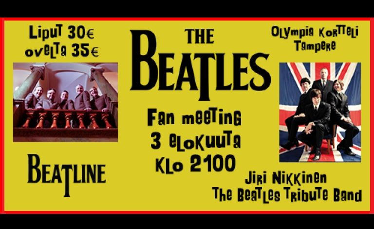 The Beatles Fan Meeting: Beatline + Jiri Nikkinen The Beatles Tribute Band Liput