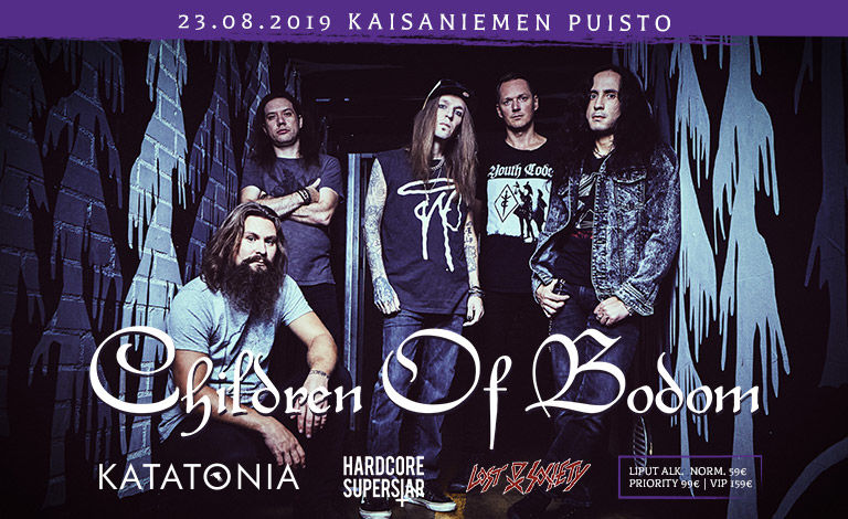 Children Of Bodom, Katatonia, Hardcore Superstar, Lost Society Liput