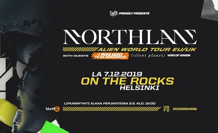 Northlane (AUS), Silent Planet (USA), Void Of Visions (AUS) Liput