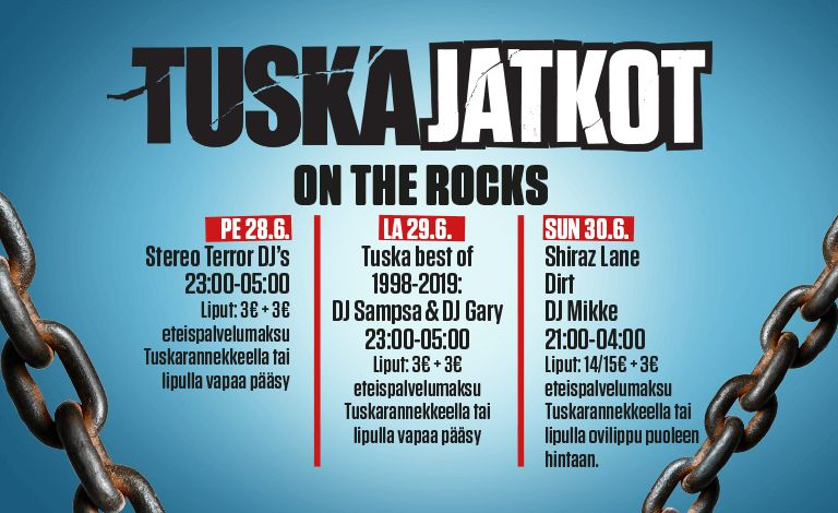 Tuska afterparty: Shiraz Lane, DIRT, DJ Mikke Liput