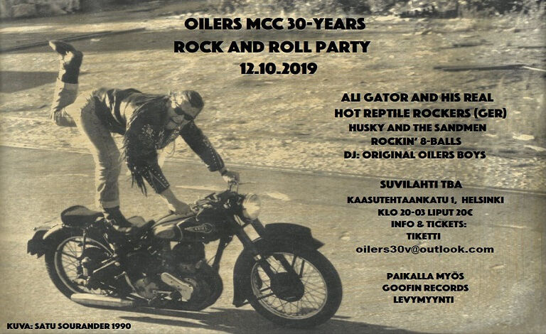 Oilers MCC 30-years Rock and Roll Party Liput