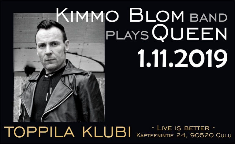 Kimmo Blom band plays Queen Liput