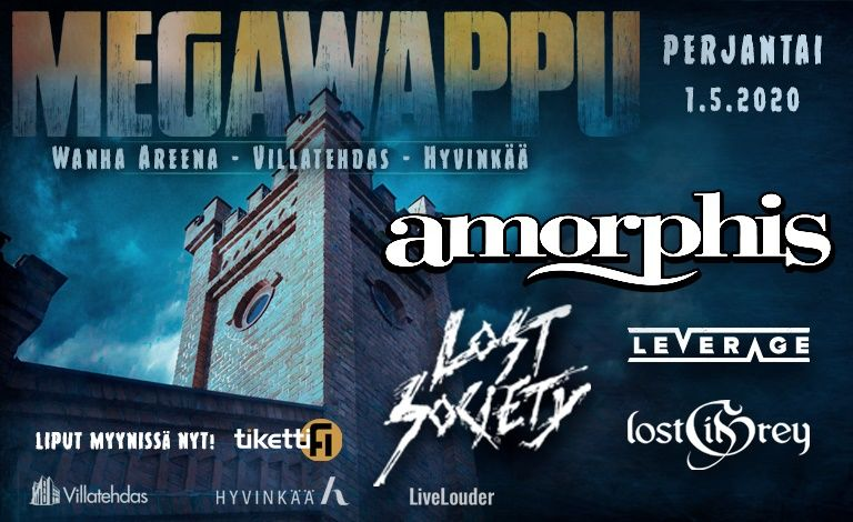 MegaWappu: Amorphis, Lost Society, Leverage, Lost in Grey Tickets