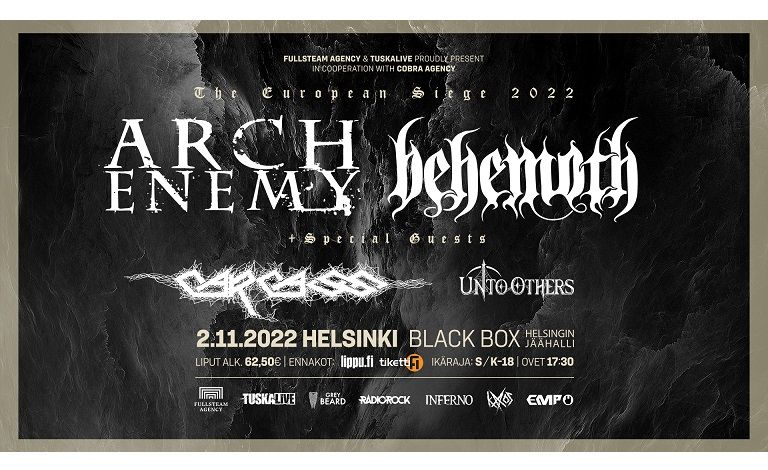 The European Siege 2021: Arch Enemy, Behemoth + special guests Tickets